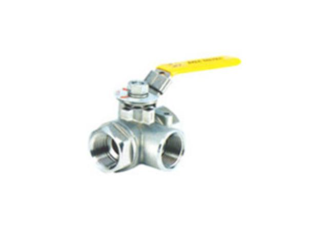 1000wog Three-way stainless steel ball valve